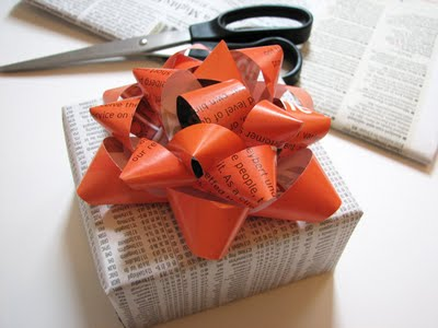 All About the Packaging: Newspaper As Gift Wrap