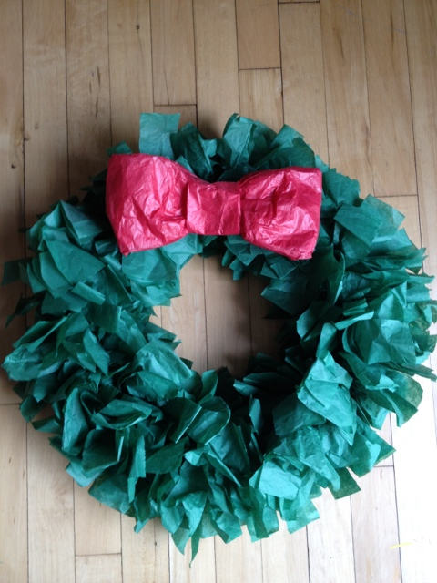 Easy DIY: Tissue Paper Wreath | Celebrate the Big & Small