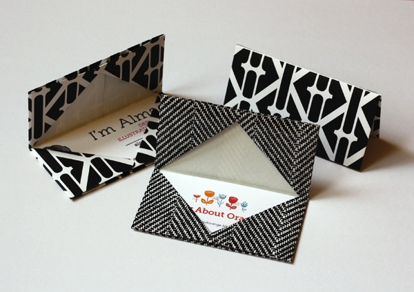 All About The Packaging Origami Business Card Holder Celebrate