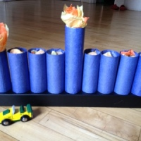 Easy DIY: Paper Tube Gift Menorah