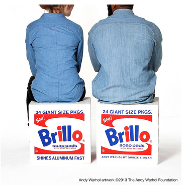 Brillo Box Pouf White