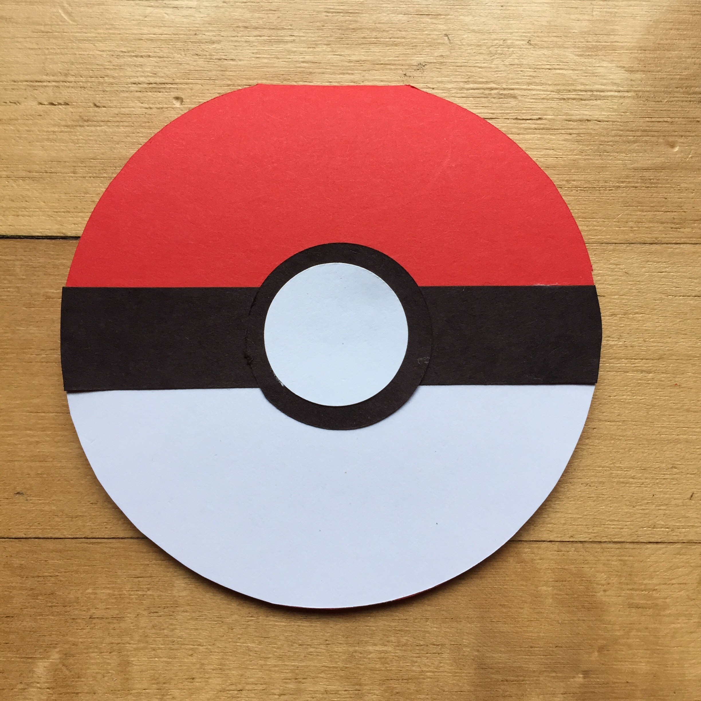How To Make Pokeball With Paper
